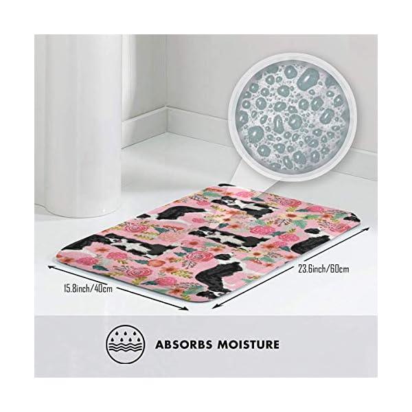 "Pillow Bags Best Dog Designs Best Dog Prints Cute Border Collies Fabrics Floor Bath Entrance Rug Mat Absorbent Indoor Bathroom Decor Doormats Rubber Non Slip 15.7"" X 23.5"" 3"