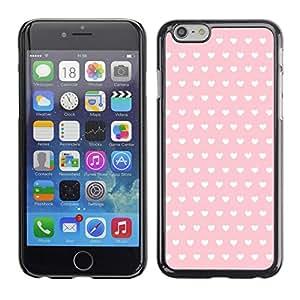 FlareStar Colour Printing Polka Dot Pattern Wallpaper Heart Pink cáscara Funda Case Caso de plástico para Apple (4.7 inches!!!) iPhone 6