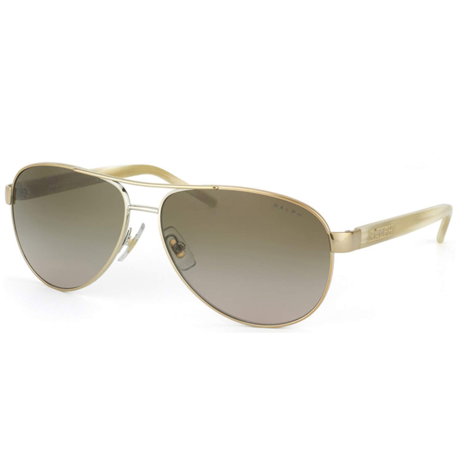 Ralph By Ralph Lauren RL-RA4004-101/13 Gold and Cream with Brown Gradient Lenses Women's Sunglasses