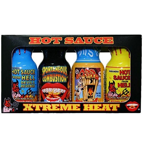 (Ass Kickin Xtreme Heat Hot Sauce, Mini's, 3 Ounce )