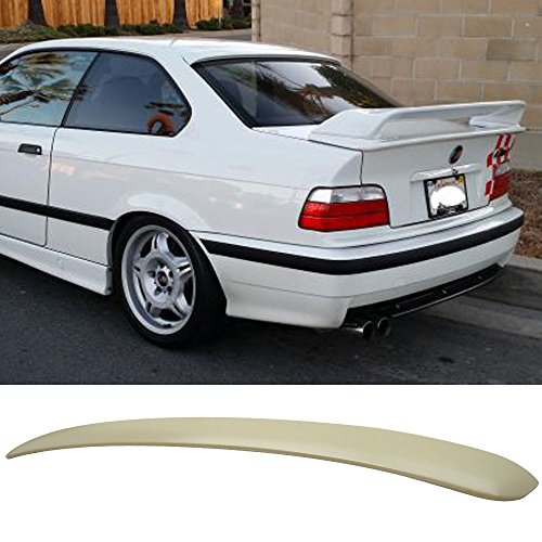 Roof Spoiler Fits 1992-1998 BMW 3 Series E36 2D | AC Style Unpainted ABS Rear Trunk Tail Spoiler Wing by IKON MOTORSPORTS | 1993 1994 1995 1996 1997 (E36 Roof Spoiler)