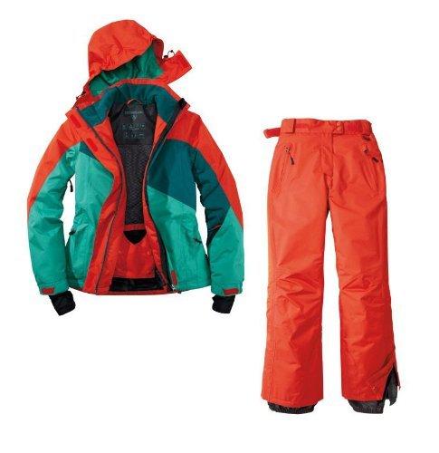 Skianzug 2tlg. Funktioneller Skianzug Für Damen Gr. 40 M-2 Farbe. Rot-Grün-Blau Schneeanzug Thinsulate Skijacke