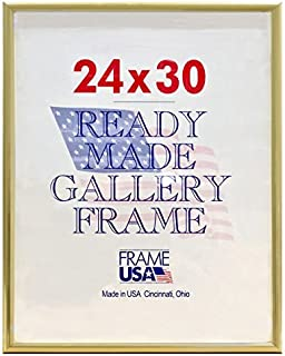 product image for Frame USA 24x30 Deluxe Polystyrene Plastic Poster Frames (Gold) | Multiple Colors Available