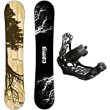 Camp Seven New Roots CRC Snowboard +APX Bindings Men's Snowboard Packages (156 cm)