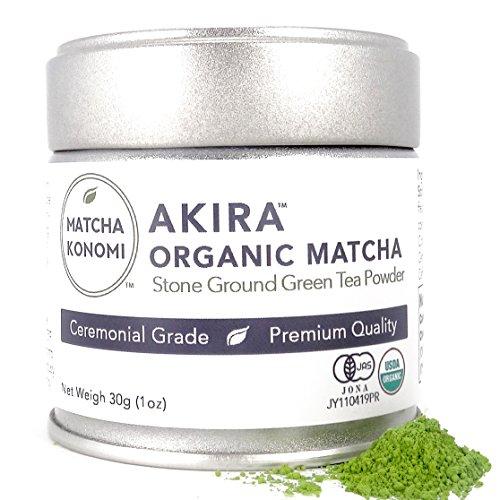 Matcha Konomi - Premium Ceremonial Grade Organic Japanese Matcha Green Tea Powder - Akira Matcha is from Uji, Kyoto - First Harvest, Radiation Free, No Additives, Zero Sugar - 30g - Japanese Premium Green