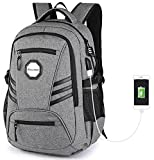 KOLAKO Laptop Backpack with USB Port Charger Anti-Theft Slim Business Computer Backpack Water Resistant Lightweight Travel Laptop Bag Fit 15 15.6 inch Laptop and Tablet