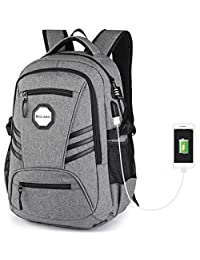 KOLAKO College Backpack, Business Slim Laptop Backpack, Water Resistant Computer Backpacks with USB Charging Port and Lock, Lightweight Travel Bag Fit 15.6 Inch Laptops / Tablets?