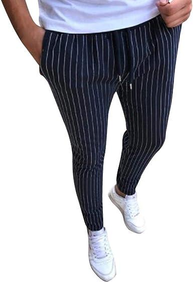 Estilo Para Hombre Trotar Rayada Aptitud Sibilancias Lapiz Pantalones Mode Basicos Casuales Del Lazo Pantalones Vaqueros De Viaje De Trabajo Fuera De Pantalones De Chandal Culturismo Pantalones Amazon Es Ropa Y Accesorios