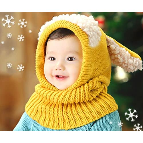 f54c730cd Envio gratis Xiaoyu bebé niñas niñas bufanda de invierno de invierno  pañuelos de lana bufandas capucha