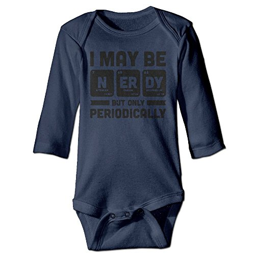 Richard Unisex Newborn Bodysuits I May Be Nerdy But Only Periodically Girls Babysuit Long Sleeve Jumpsuit Sunsuit Outfit 6 M - Costume Nerd Halloween Diy