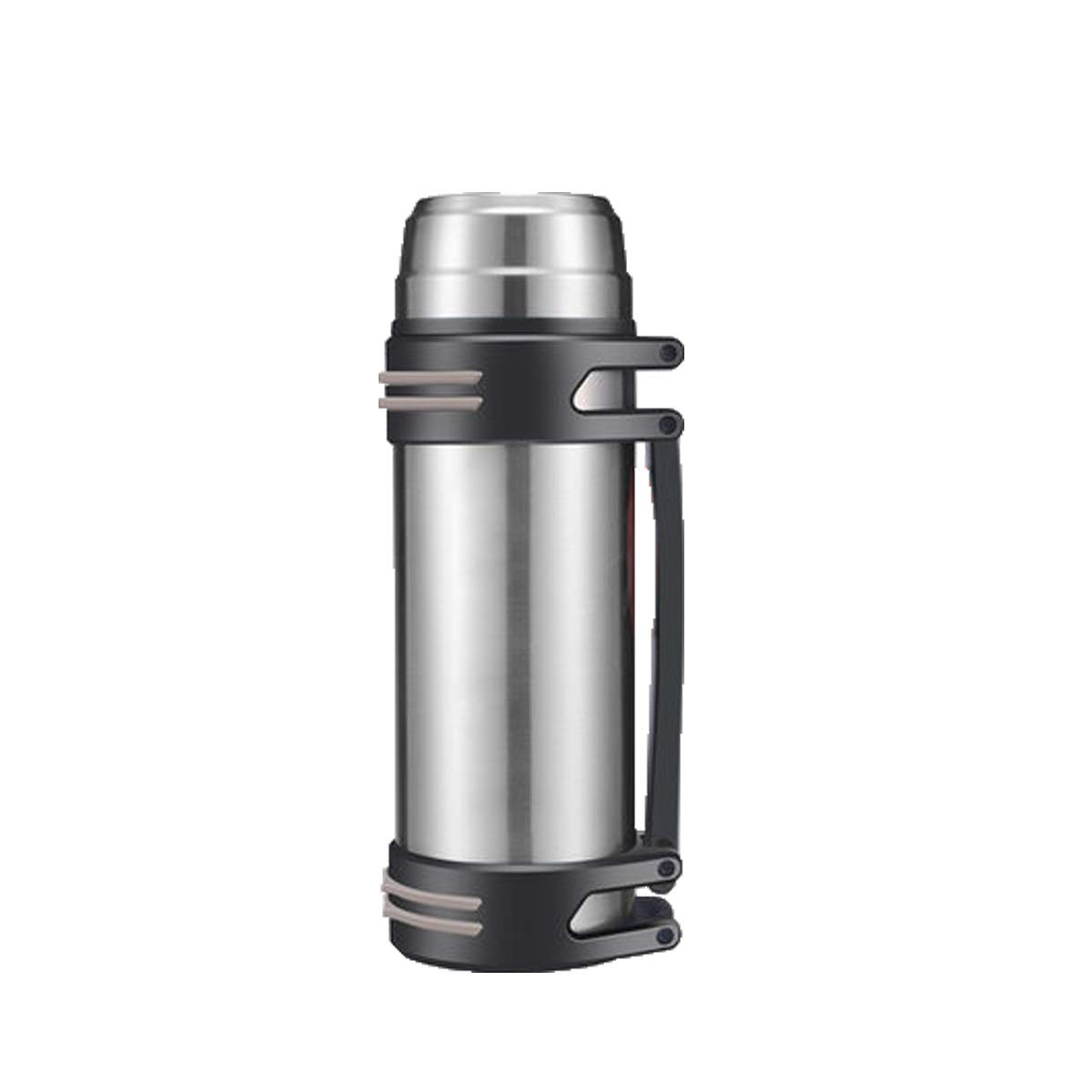 Thermos Cup, Large Capacity Insulation Pot for Men and Women, Thermos Bottle, Outdoor Portable Car Travel Bottle, 2L L 1000ml, Black, Silver, Blue, Red (Color : Silver-1200ML)