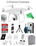 DJI Phantom 4 Drone STARTER Bundle - DJI Phantom 4 Drone + Controller + Foam Case + 64 GB Memory Card + DigitalAndMore Micro Fiber Lens Cleaning Cloth