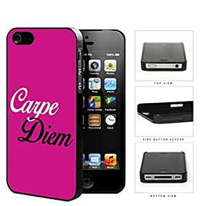 Carpe Diem Quote Latin Poet Horace Pretty Pink Hard Snap on Phone Case Cover iPhone 4 4s by Maris's Diary