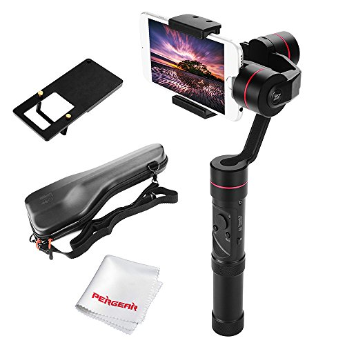 Zhiyun Smooth 3 3-Axis Handheld Gimbal for Smartphone(Max.6') GoPro Hero 3 4 5 260g Payload 14hrs Runtime Real-Time Control Exposure Compensation ISO White Balance Shutter Speed Focusing