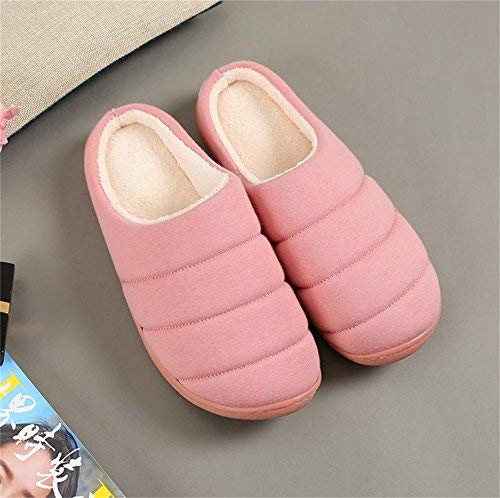 Pink JaHGDU Women 's Home Cotton Slippers Indoor Keep Warm Casual Slippers Yellow Red Pink Soild color Personality Quality for Women