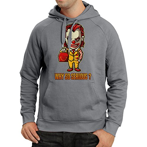 lepni.me N4443H Hoodie Why So Serious (Small Graphite Multi Color) -