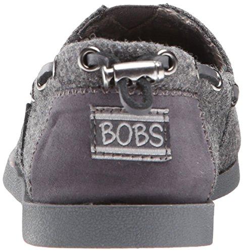Skechers Bobs de Las Mujeres De Peluche Fashion Sandalias Planas Charcoal Wool