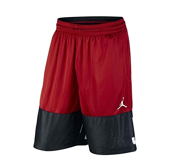 ec7e44968f43 Nike Jordan Men s Dri-Fit AJ Blackout Shorts-Gym Red-Medium at ...