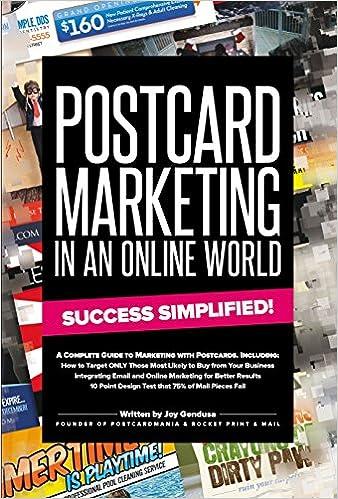postcard marketing in an online world success simplified joy