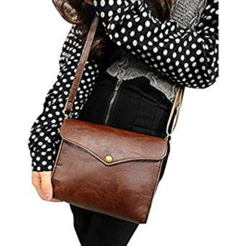 Canserin Hot Sale! Women Handbag, Women's Retro PU Leather Shoulder Bag Satchel Handbag Tote Hobo Messenger Packet (Brown)