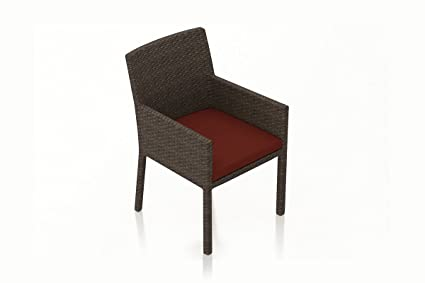 Incredible Amazon Com Harmonia Living Arden Patio Dining Arm Chair In Gmtry Best Dining Table And Chair Ideas Images Gmtryco