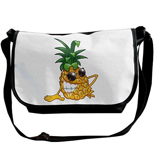 Women Fashion Handbags Hobo Handbags Bags Tote Yellow Pineapple Black Shoulder Large Cartoon Black Capacity Canvas Bags paq4fEvwI