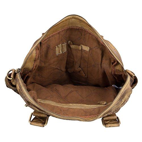 Bags Cm Gelbbraun Greenland Piel De 47 Mano Soft Bolso P55wqx1OA