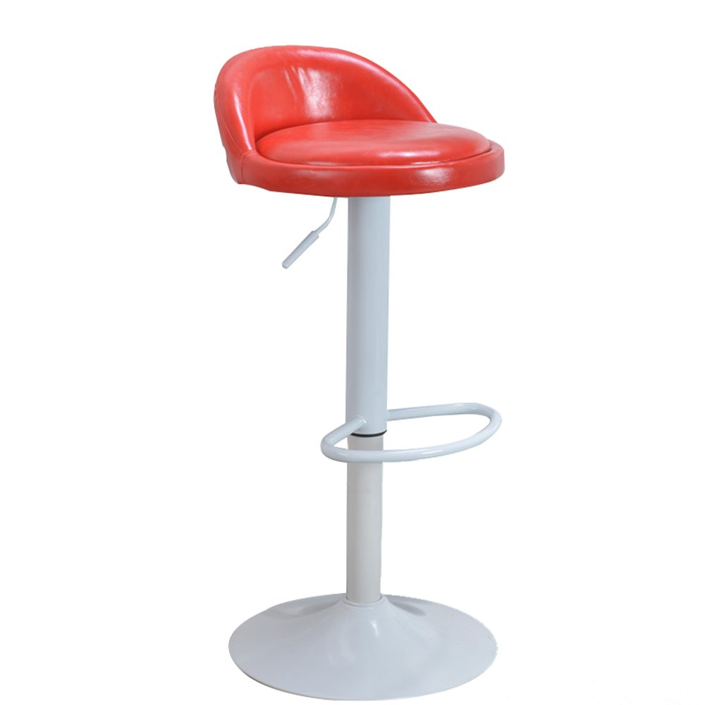 Red2 Oil Wax bar Chair Lift bar Stool Fashion Simple Home Leisure Chair high Stool high 60cm-80cm (color   Yellow)