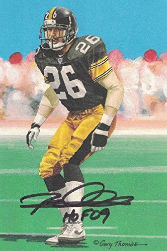 pretty nice 9eba6 bdc10 Rod Woodson Autographed Pittsburgh Steelers 20064 Goal Line ...