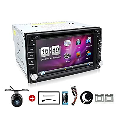 BOSION Navigation product 6.2-inch double din car gps navigation in dash car dvd player car stereo touch screen with Bluetooth usb sd mp3 radio for universal car with backup camera and map card from China