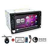 BOSION Navigation product 6.2-inch double din car gps navigation in dash car dvd player car stereo touch screen with Bluetooth usb sd mp3 radio for universal car with backup camera and map card