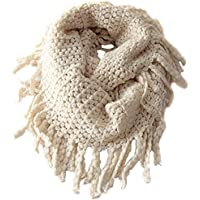 Tusong Winter Warmer Unisex Baby Kids Toddler Knit Tassels Shawl Scarf (Beige)