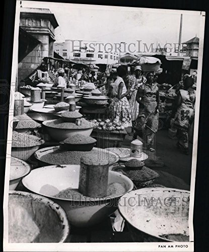 1986 Press Photo Open Air Market In West Africa In Makola Market In Accra   10 75 X 8 75 In    Historic Images