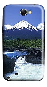 Samsung Note 2 Case Landscapes mountain stream 3D Custom Samsung Note 2 Case Cover