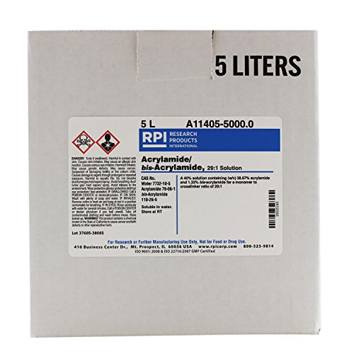Acrylamide/bis-Acrylamide, 29:1 Ratio Solution, 5 Liters by RPI