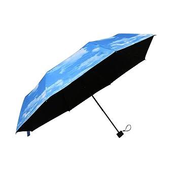 VORCOOL Sombrilla antisubvenual de la protección del Sol Tres Paraguas Plegable, Paraguas a Prueba de
