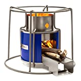DayMark Safety Systems Affirm Global IT117469BB Wood Burning EZY Stove, Blue