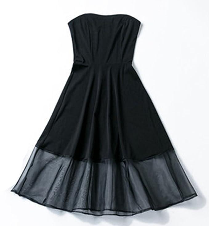 Sentao Donna Estivo Vestito Senza Spalline Elegante Cerimonia Cocktail Abito  Da Sera  Amazon.it  Abbigliamento 5bc3ee5cafb