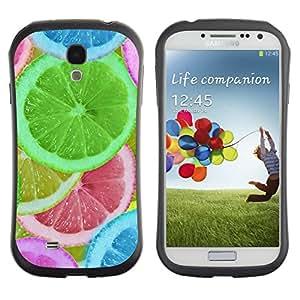 Suave TPU GEL Carcasa Funda Silicona Blando Estuche Caso de protección (para) Samsung Galaxy S4 I9500 / CECELL Phone case / / Lemon Teal Green Fruit Nature /