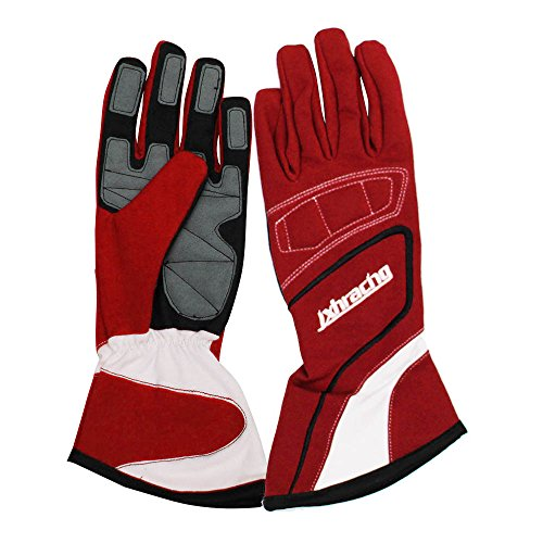 jxhracing G001HA Racing gloves-Red-Large ()