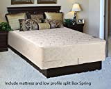California King Bed Specs Spring Solution, 10-Inch medium plush Tight top Innerspring Mattress And 4-Inch Wood Traditional Box Spring/Foundation Set, Good For The Back, No Assembly Required, California King Size 84