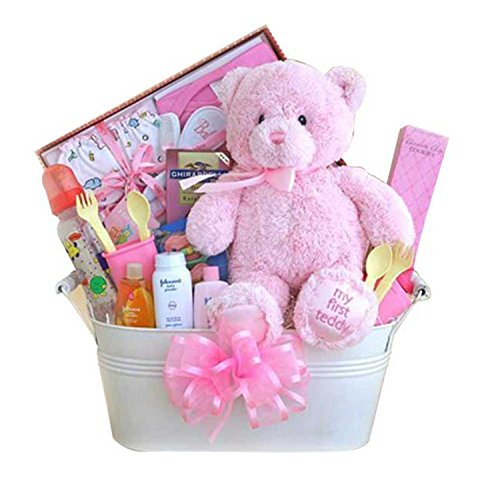 My First Teddy Baby Gift Basket