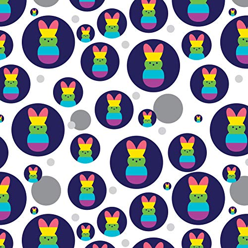 GRAPHICS & MORE Rainbow Striped Bunny Peep Premium Gift Wrap Wrapping Paper Roll