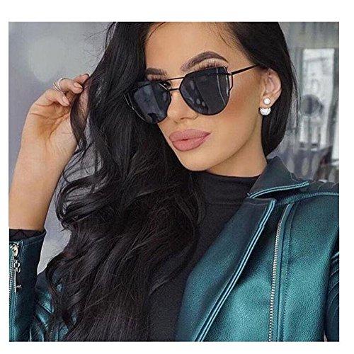 Mirrored Flat Lens Cateye Sunglasses Polarized Shades For Unisex 86798D - Gentle Sunglasses Monster Amazon