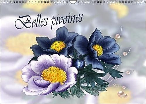 Belles Pivoines 2018 Dessins Aux Crayons De Couleur