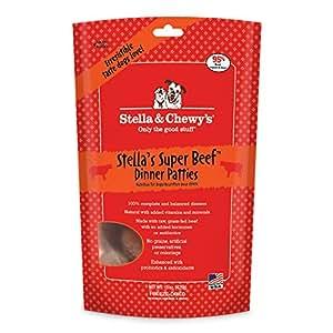 Stella & Chewy's Freeze-Dried Raw Stella's Super Beef Dinner Patties Grain-Free Dog Food, 15 oz. bag