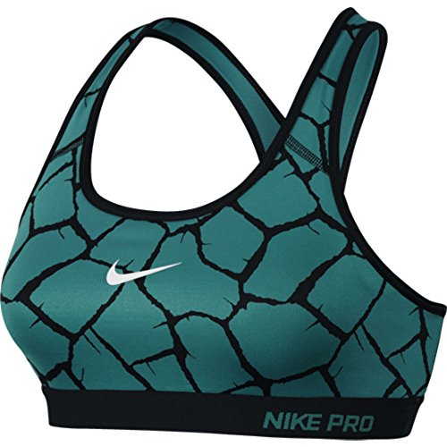 Ropa interior para mujer Nike Pro Classic Pad jirafaconstellation Bra, 682874-309 Verde verde Talla:extra-large Verde - verde