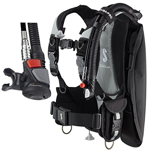 Travel Buoyancy Compensator - Scubapro Litehawk Buoyancy Compensator w/ Air2 V Gen, Black/Gray, XLarge/2XLarge