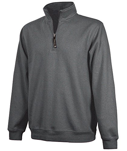 Charles River Apparel Unisex-Adult's Crosswind Quarter Zip Sweatshirt (Regular & Big-Tall Sizes), Dark Charcoal L