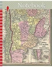 Notebook: 1853, Mitchell Map of Argentina, La Plata , Uruguay and Chili